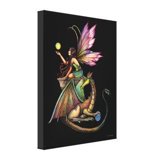 Dragon s Orbs Fairy Canvas Print