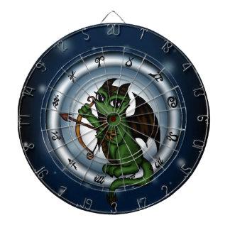 Dragon Sagittarius Zodiac Dartboard With Darts