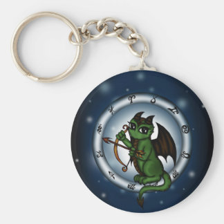 Dragon Sagittarius Zodiac Keychain