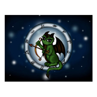Dragon Sagittarius Zodiac Postcard