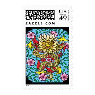 Dragon Sakura Stamps