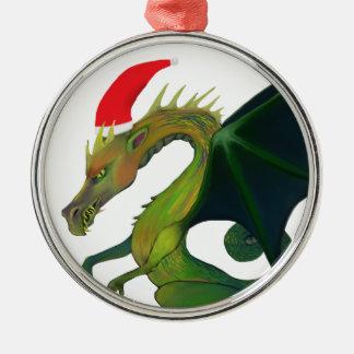Dragon Santa Ornament
