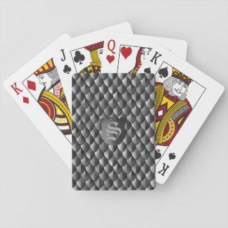 Dragon Scale Armor Black Monogram Playing Cards