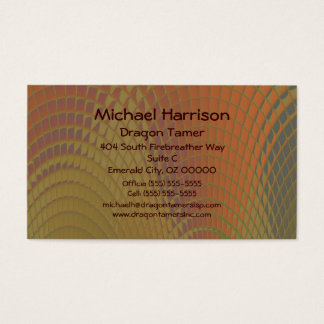Dragon Scales Abstract Pattern Business Card