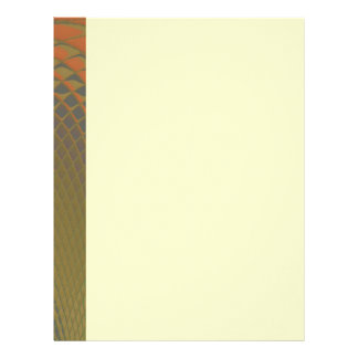 Dragon Scales Abstract Pattern Letterhead