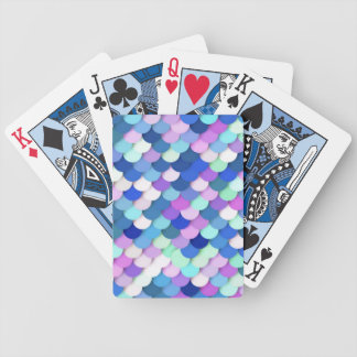 """Dragon Scales"" - blue, orchid and lavender Bicycle Playing Cards"