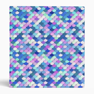 """""""Dragon Scales"""" - blue, orchid and lavender 3 Ring Binders"""
