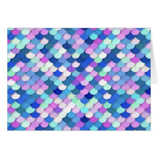 """""""Dragon Scales"""" - blue, orchid and lavender Card"""