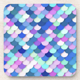"""Dragon Scales"" - blue, orchid and lavender Drink Coaster"