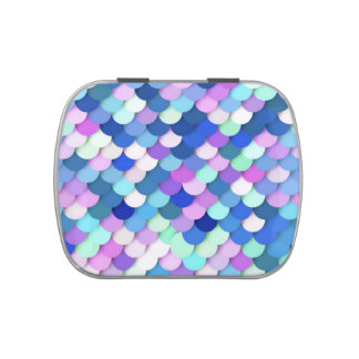 """""""Dragon Scales"""" - blue, orchid and lavender Jelly Belly Candy Tins"""