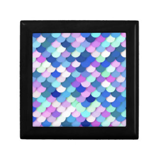 """""""Dragon Scales"""" - blue, orchid and lavender Keepsake Box"""