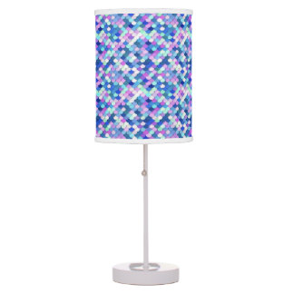 """""""Dragon Scales"""" - blue, orchid and lavender Table Lamp"""