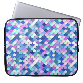 """""""Dragon Scales"""" - blue, orchid and lavender Laptop Sleeves"""