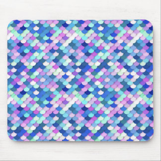 """""""Dragon Scales"""" - blue, orchid and lavender Mouse Pad"""