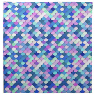 """""""Dragon Scales"""" - blue, orchid and lavender Napkin"""
