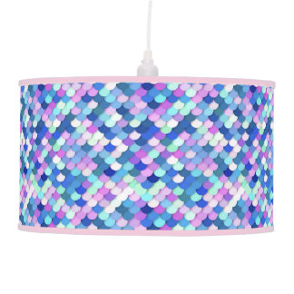 """""""Dragon Scales"""" - blue, orchid and lavender Pendant Lamps"""
