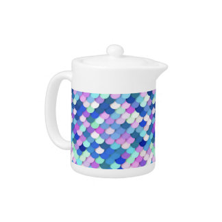 """""""Dragon Scales"""" - blue, orchid and lavender Teapot"""