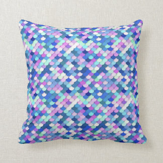 """""""Dragon Scales"""" - blue, orchid and lavender Throw Pillow"""