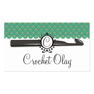 Dragon scales crochet hook monogram Double-Sided standard business cards (Pack of 100)