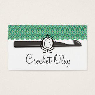 Dragon scales crochet hook monogram business card