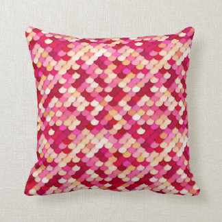 """""""Dragon Scales"""" - magenta, hot pink and peach Throw Pillow"""