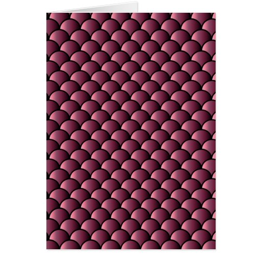 Dragon Scales Pattern Greeting Card