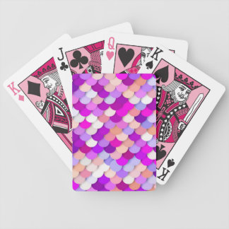"""Dragon Scales"" - purple. hot pink and peach Bicycle Playing Cards"
