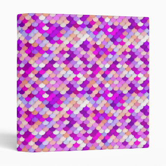 """""""Dragon Scales"""" - purple. hot pink and peach Binder"""