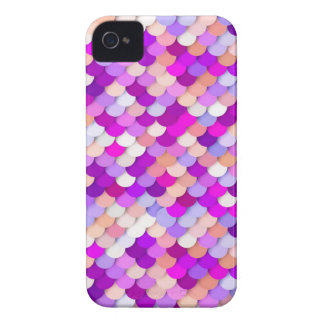 """""""Dragon Scales"""" - purple. hot pink and peach Case-Mate iPhone 4 Case"""