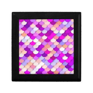 """Dragon Scales"" - purple. hot pink and peach Keepsake Box"