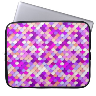 """""""Dragon Scales"""" - purple. hot pink and peach Computer Sleeves"""