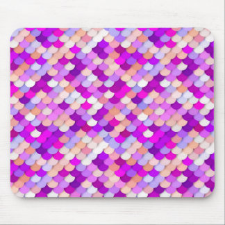 """""""Dragon Scales"""" - purple. hot pink and peach Mouse Pad"""