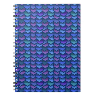 Dragon scales spiral notebook