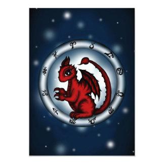 Dragon Scorpio Zodiac invitation