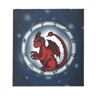 Dragon Scorpio Zodiac Notepad
