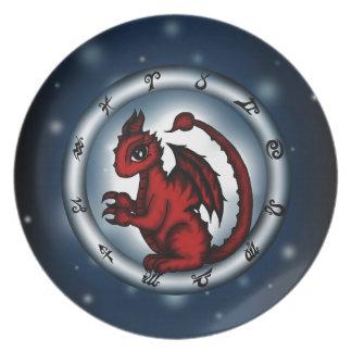 Dragon Scorpio Zodiac Plate
