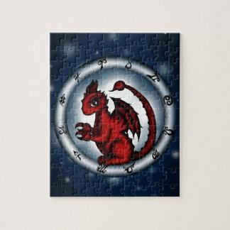 Dragon Scorpio Zodiac Puzzle