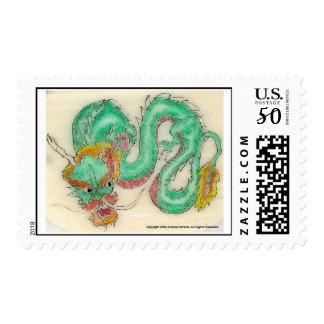 Dragon Scrimshaw Postage