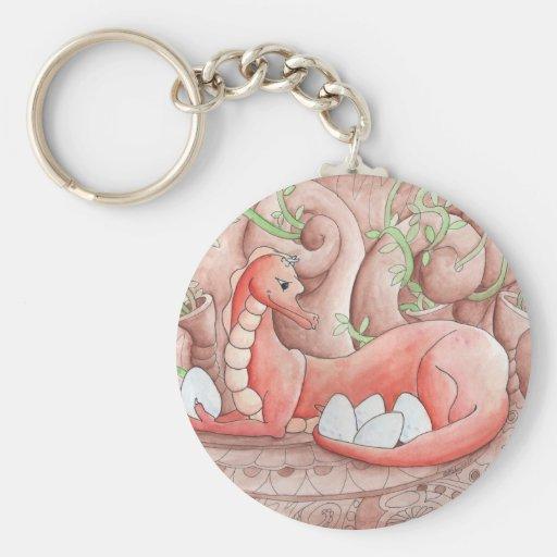 Dragon Seeds Basic Round Button Keychain