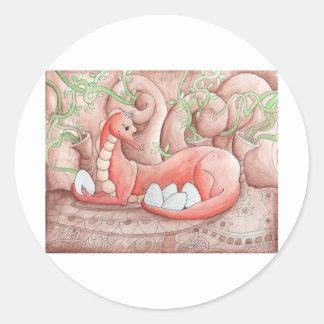 Dragon Seeds Classic Round Sticker