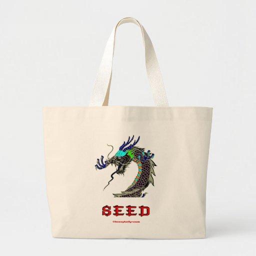 Dragón, semilla, chino, China, Oriental, Asia, asi Bolsa De Mano