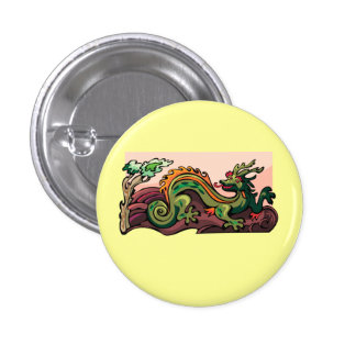 Dragon Serpent Tattoo Fantasy Fiction Drawing Art Button