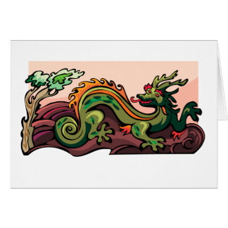 Dragon Serpent Tattoo Fantasy Fiction Drawing Art Card