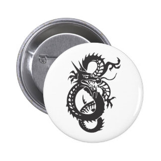 Dragon Serpent Tattoo Fantasy Fiction Drawing Art Pinback Button
