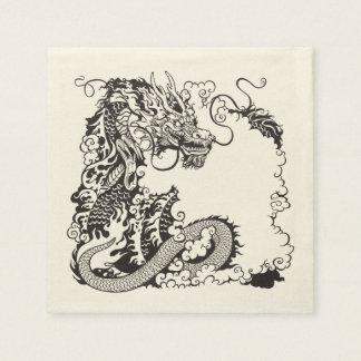 dragón servilletas de papel