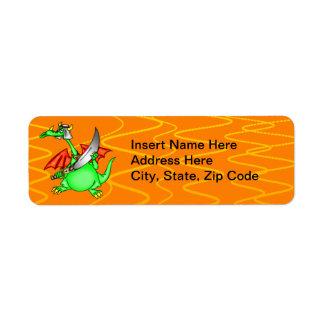 Dragon Sheik Return Address Label