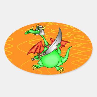 Dragon Sheik Oval Sticker