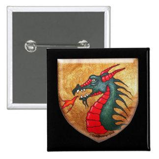 Dragon Shield Pinback Buttons