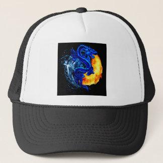 dragon shirt yin yang balance karate japanese code trucker hat