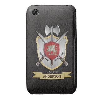 Dragon Sigil Battle Crest Black iPhone 3 Covers